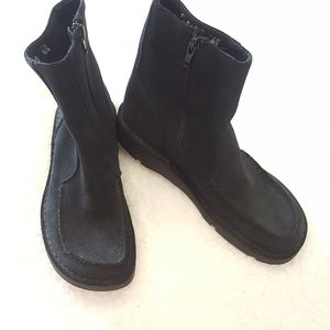 J.Crew black suede/leather side zip ankle boots